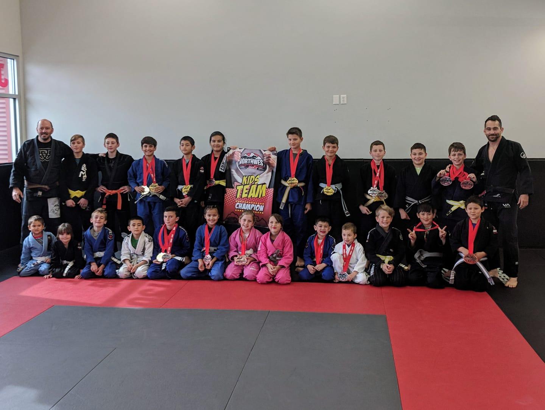 Kids Jiu Jitsu Team Champions